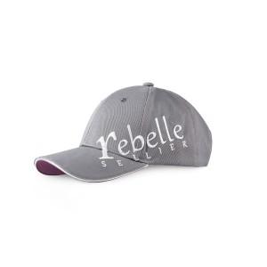Casquette Rebelle Sellier Grise coton