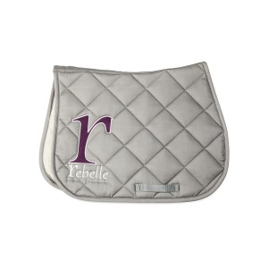 Tapis Rebelle Gris selle rebelle sellier coton